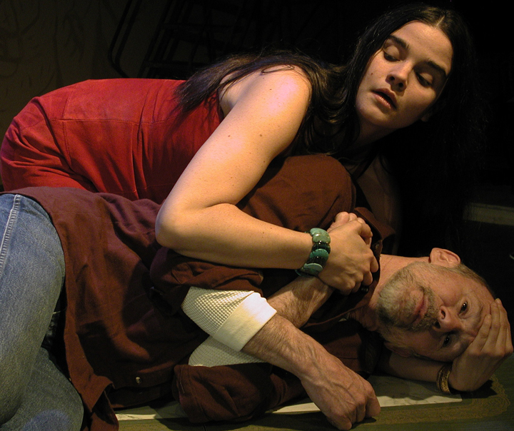 Elena Passarello and Mark C. Thompson in 'The Late Henry Moss'