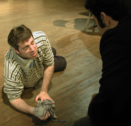 Richard Keitel and Patrick Jordan in 'The Late Henry Moss'
