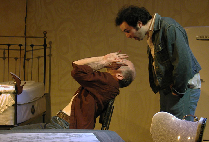 Mark C. Thompson and Dave Mansueto in 'The Late Henry Moss'
